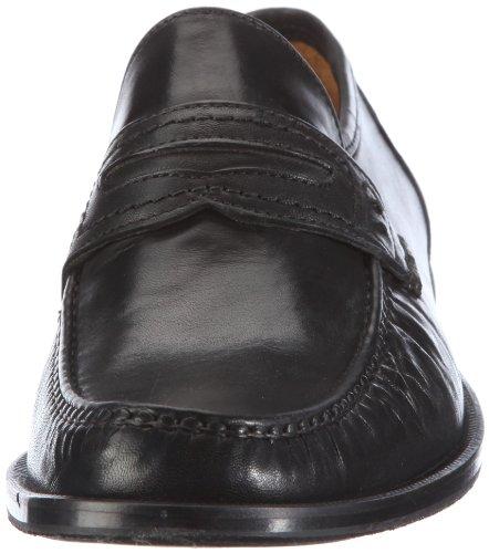 FRETZ men Torino 7011.0472.51 - Mocasines de cuero para hombre Negro