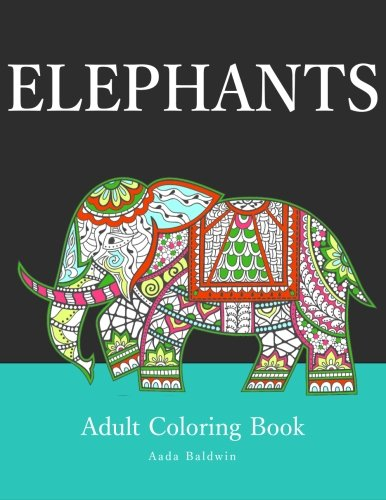 Elephants Adult Coloring Aada Baldwin