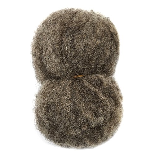 Tight Afro Kinky Bulk For Braiding 6 8 Quot In Light Brown