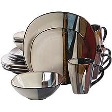 Gibson Elite 16 Piece Althea Reactive Glaze Dinnerware, Multicolor