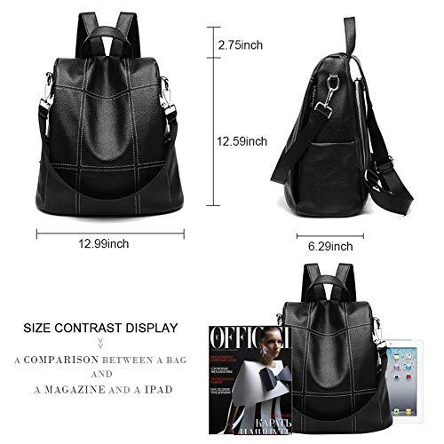 Bag Daypacks School Backpack Travel Brown Women for Shoulder Bag Casual Lightweight Satchel Purse Purse Waterproof Leather 6xxSgFqa