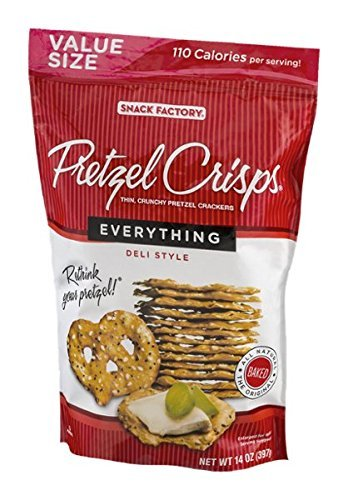Snack Factory Pretzel Crisps - Everything - 14 oz