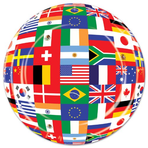 International Flag Plates   (8/Pkg)