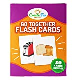 CLEAR. ACCESSIBLE. FUN!. This Go Togethers Flash Card set contains 50 cards, 25 matching pairs with a clear and clean picture on the front of each card and a colorful English word on the back of each card. This set will empower you to help your stude...