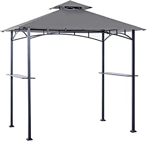 ABCCANOPY Grill Shelter Replacement Canopy Roof ONLY FIT for Gazebo Model L-GZ238PST-11 (Grey)