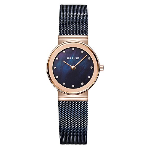 BERING Time 10126-367 Womens Classic Collection Watch with Mesh Band and scratch resistant sapphire crystal. Designed in Denmark.