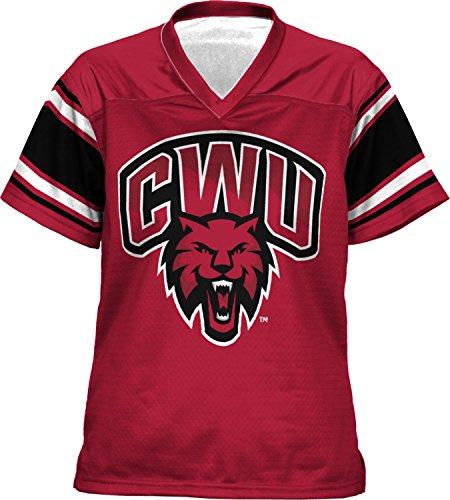 Women's Central Washington University End Zone Football Fan Jersey (Apparel)