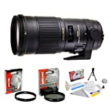 Sigma 180mm f/2.8 APO Macro EX DG OS HSM Lens for Nikon + Opteka UV Filter + Opteka...