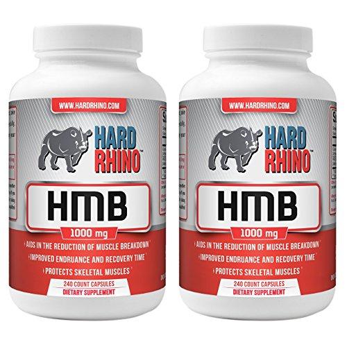 Hard Rhino HMB Capsules, 1000mg, 480 Vegetarian Capsules