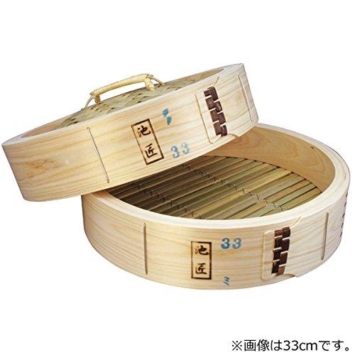 日本製 池匠ひのき中華セイロ(蒸篭)  (身蓋セット) 33cm   B0044WOCZ4