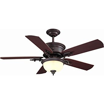 hampton bay ac426wcp dawson 54 in weathered copper ceiling fan