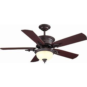 Hampton Bay AC426 WCP Dawson 54 In. Weathered Copper Ceiling Fan   Ceiling  Fans   Amazon.com