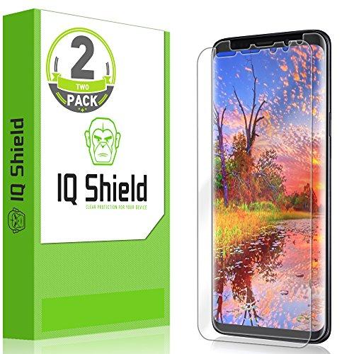 (Galaxy S9 Screen Protector (2-Pack), IQ Shield LiQuidSkin Full Coverage [EDGE to EDGE] Screen Protector for Galaxy S9 (Max Coverage) HD Clear Anti-Bubble Film)