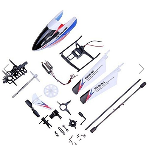 Tinksky Professional WLtoys V911-2 RC Helicopter Accessories Spare Parts Kit Set Head Cover Balance Bar Main Blades Main Shaft Connect ()