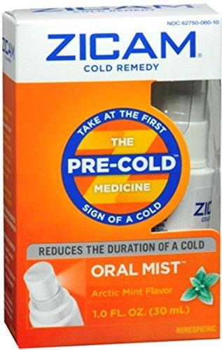 Zicam Cold Remedy Plus Oral Mist Arctic Mint Flavor 1.0 oz. (Quantity of 4)