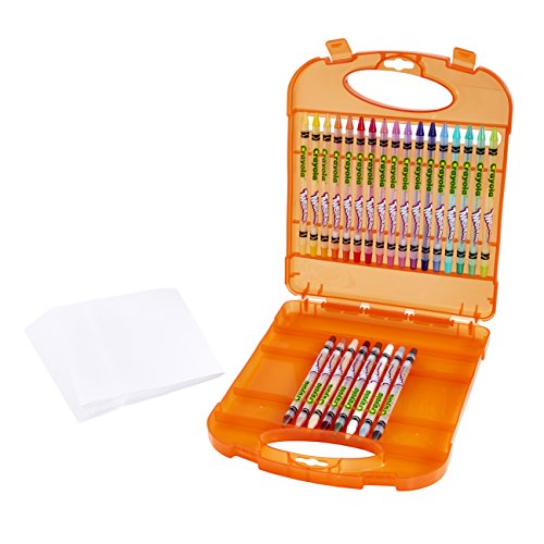 Crayola Twistables Colored Pencils & Paper Set, 65 Pieces Non-Toxic Art Gift for Adults & Kids 4 & Up, Kit Includes Twist-Up Colored Pencils Classic Colors & Paper In A Portable Travel Case