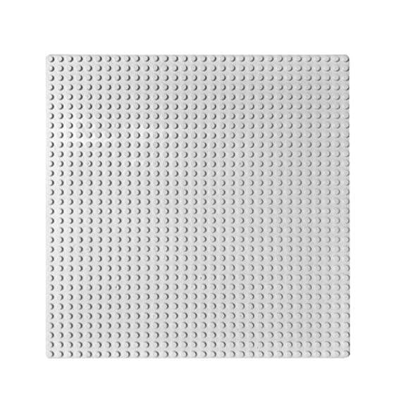 EduToys Plastic Base Plate Board for Building Blocks Bricks (10 x 10 Inches, Grey)