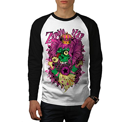 Zombie Queen Star Eye Royal Dead Men NEW S Baseball LS T-shirt | Wellcoda (Voodoo Queen Costume)