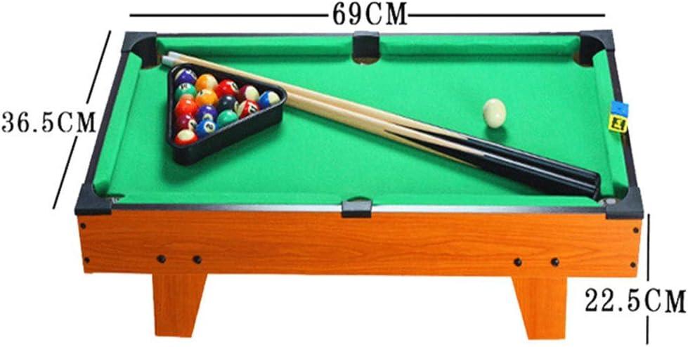 WJSWHW El Juego de Billar Mini Tabletop Pool Set Incluye Bolas de ...