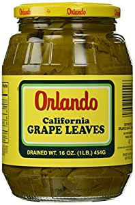 California Grape Leaves -Orlando 2lb jar, DR.WT. 16oz