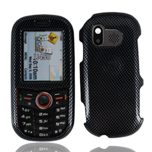 LF Hard Case Cover with Stylus Pen Accessory for Samsung Intensity U450 Verizon (Carbon Fiber)