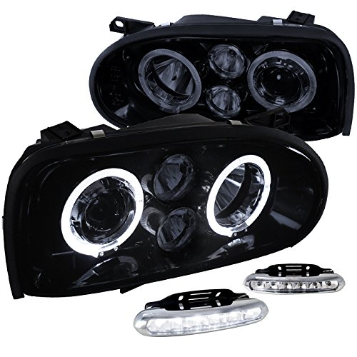 Glossy Black Projector Headlights Driving