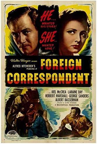"Amazon.com: Foreign Correspondent POSTER (27"" x 40""): Posters & Prints"