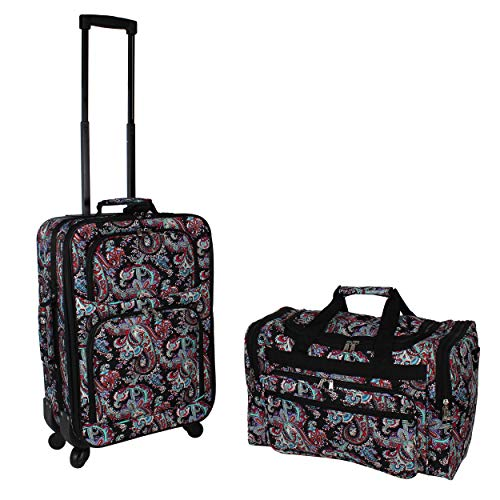 World Traveler 2-Piece Carry-On Expandable Spinner Luggage Set - ()