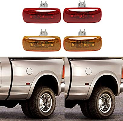 2017 Dodge Dually >> Amazon Com 4pcs Dual Cab Bed Fender Led Side Marker Lights For 2010