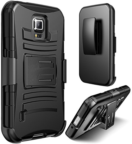 competitive price 60edb 2f25a Galaxy S5 Active Case, S5 Active Holster Case By E LV - Full Body Hybrid  Armor Protection for Samsung Galaxy S5 Active G870 with Backstand and Belt  ...