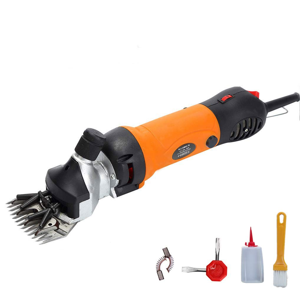 Homeself Electric Sheep Hair Shears Goat Clippers, Animal Shave Grooming Clipper, Farm Pet Supplies Livestock Fur Shears Cutter, 690W (Orange-Upgraded)