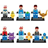 Pokemon Pikachu Lego Minifigure 8 Set Action Figures Collectables (8 Pieces) Series Building Blocks with Lego