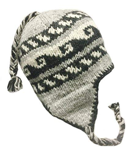 091b28d44ad18 Nepal Hand Knit Sherpa Hat with Ear Flaps