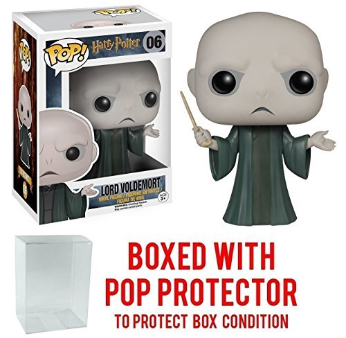 Funko Pop! Movies: Harry Potter - Lord Voldemort #06 Vinyl Figure (Bundled with Pop BOX PROTECTOR CASE)