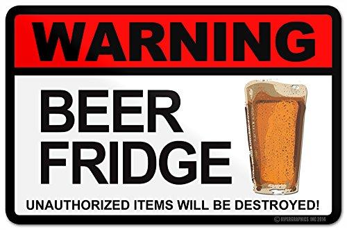 Warning Beer Fridge Sticker Kegerator Refridgerator Hops Home Brew Micro Craft Decal