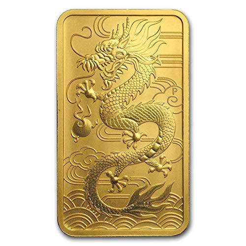 2018 AU Australia 1 oz Gold Dragon BU 1 OZ Brilliant Uncirculated