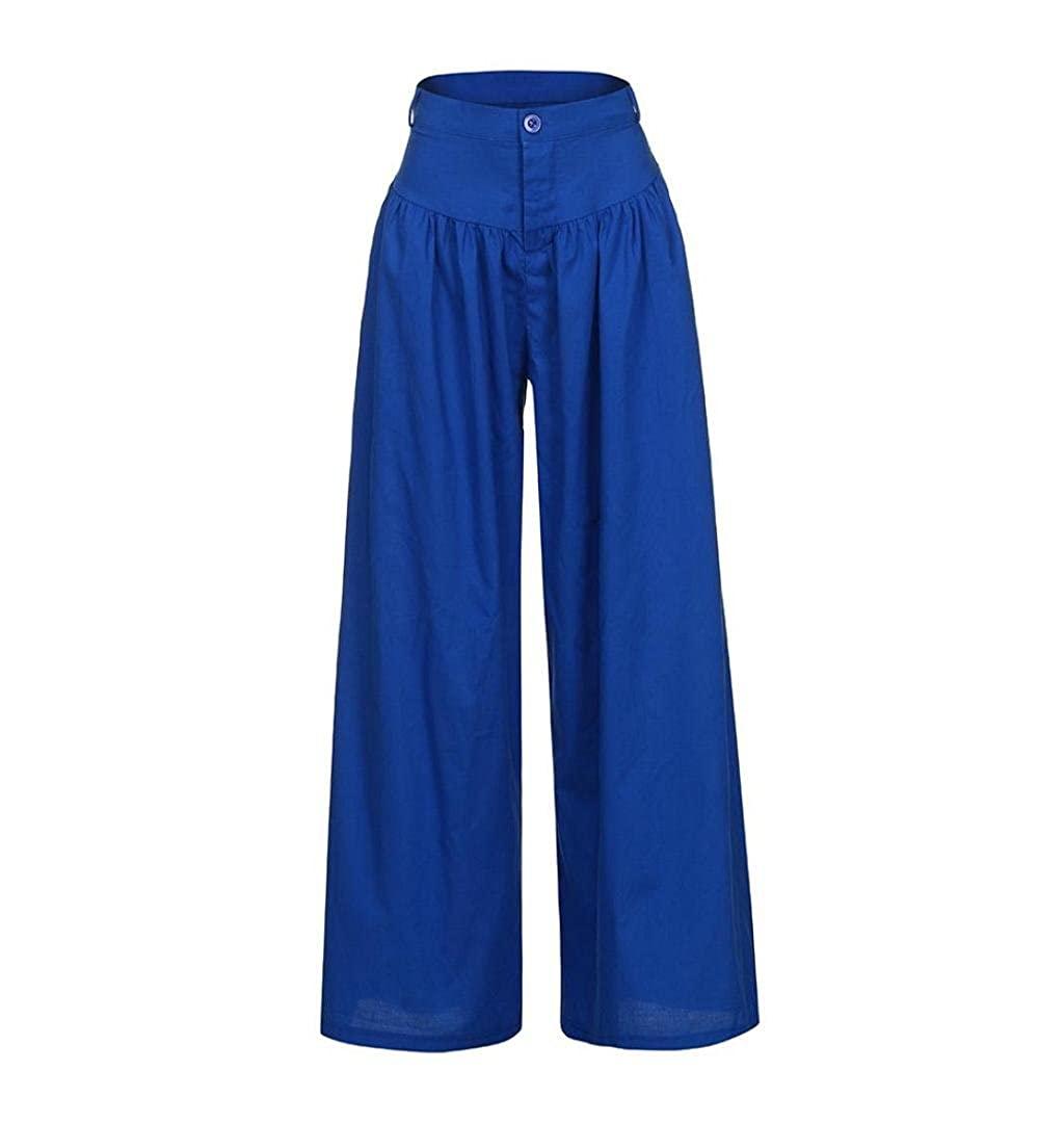 b833f345ad71 ZEZKT-Fashion Damen Culottes Wide Leg - Einfarbig, Große Größen, Licht  Freizeithose, Ladies Lange Hose Sommerhosen Freizeit Hose Yoga Hosen Bell  Bottoms ...