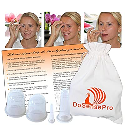 DoSensePro Acupuncture Face Massager Cupping Therapy Set Anti-Aging for Face, Eyes, Neck, Cellulite Treatment, Joint and Muscle Pain Relaxation and Stress Reduction