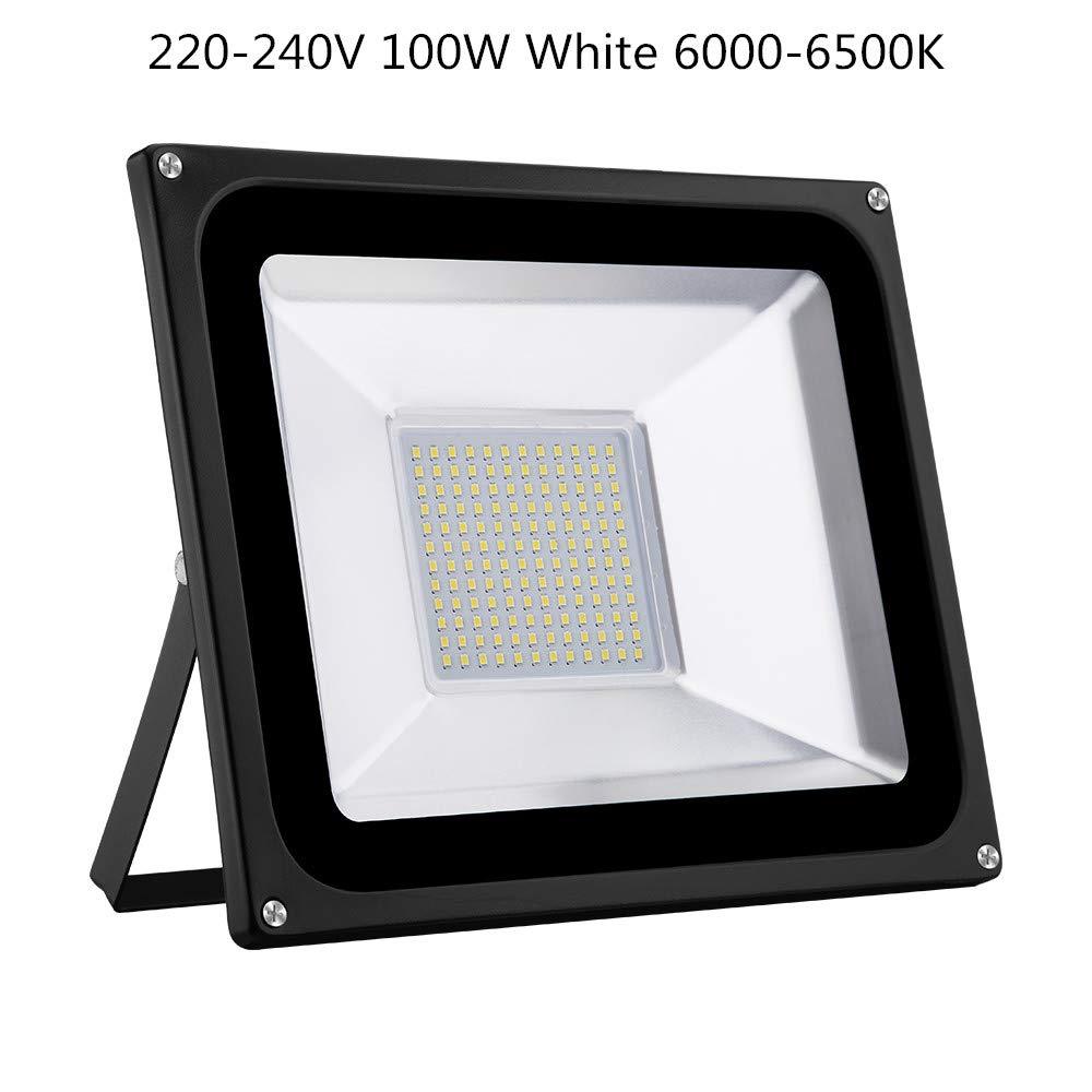 ETbotu Lampioni da Esterni 100W IP65 Impermeabile Flood Light con Luce Calda 220V-240V 8000 Lumen