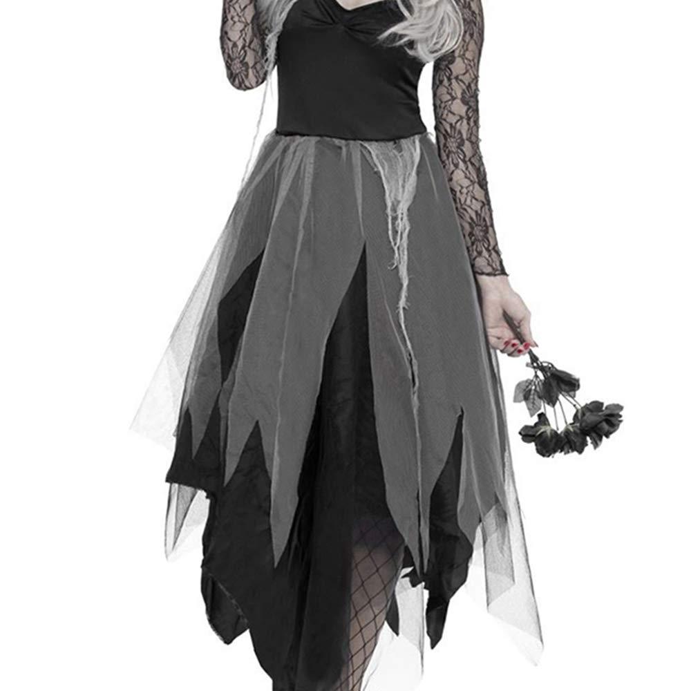 Elfisheu Halloween Zombie Braut Kostüm Kostüm Kostüm Ghost Corpse Bride Kleid für Erwachsene Damen f95be9