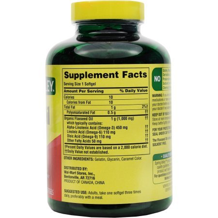 Spring Valley: Dietary Supplement Flaxseed Oil, 200 ct