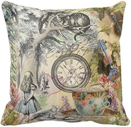 Cheshire Cat Throw Pillow Covers Cotton