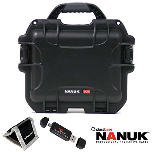 nanuk-905-hard-case-with-cubed-foam-black-polaroid-memory-card-wallet-and-ritz-gear-card-reader-writ