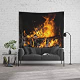 Society6 Wall Tapestry, Size Large: 88'' x 104'', Fireplace by emangl