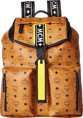 MCM Mens Raymonde Backpack Medium Cognac One Size