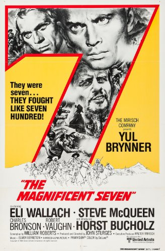 The Magnificent Seven  Movie Poster 24x36 inches Charles Bro