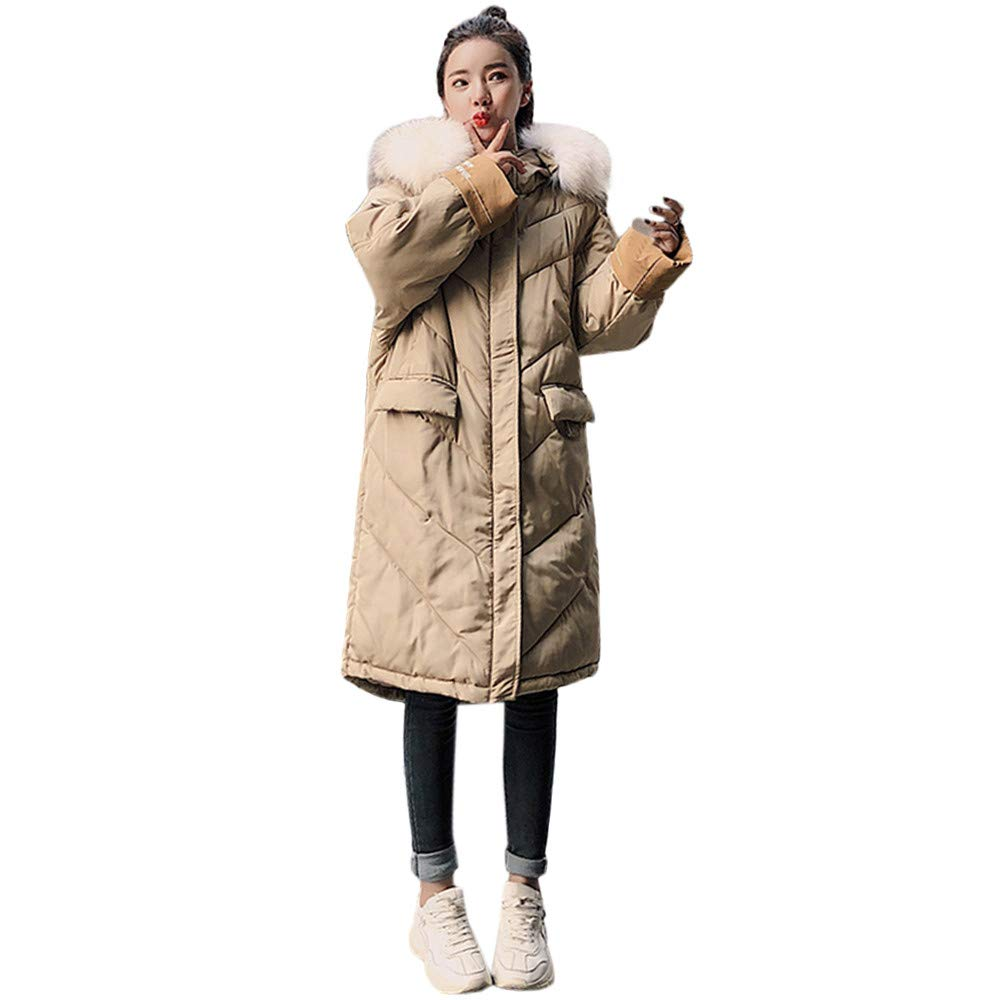 Seaintheson Women's Coats OUTERWEAR レディース B07HRDRLXK Large カーキ カーキ Large