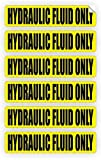 "6 Pc Excessive Unique Hydraulic Fluid Only Window Sticker Mac Macbook Laptop Luggage Wall Graphics Safety Caution Oil Door Label Decor Vinyl Stickers Decal Patches Size 3/4""x3-1/4"" Color Black-Yellow"