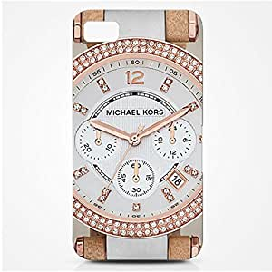 Luxury Michael Kors Series Watch Customized Thin Durrable Plastic 3D Case Cover L6M024 For Blackberry Z10