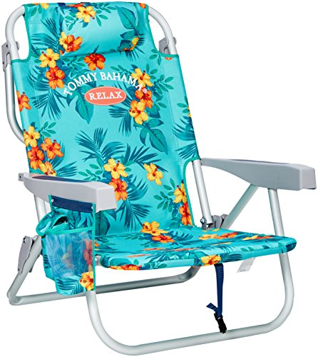Tommy Bahama Backpack Cooler Chair (Turquoise) - Deluxe Beach Chair
